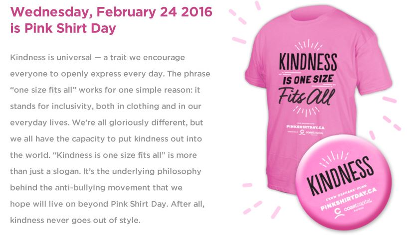 Pink Shirt Day Origin Custom Shirt