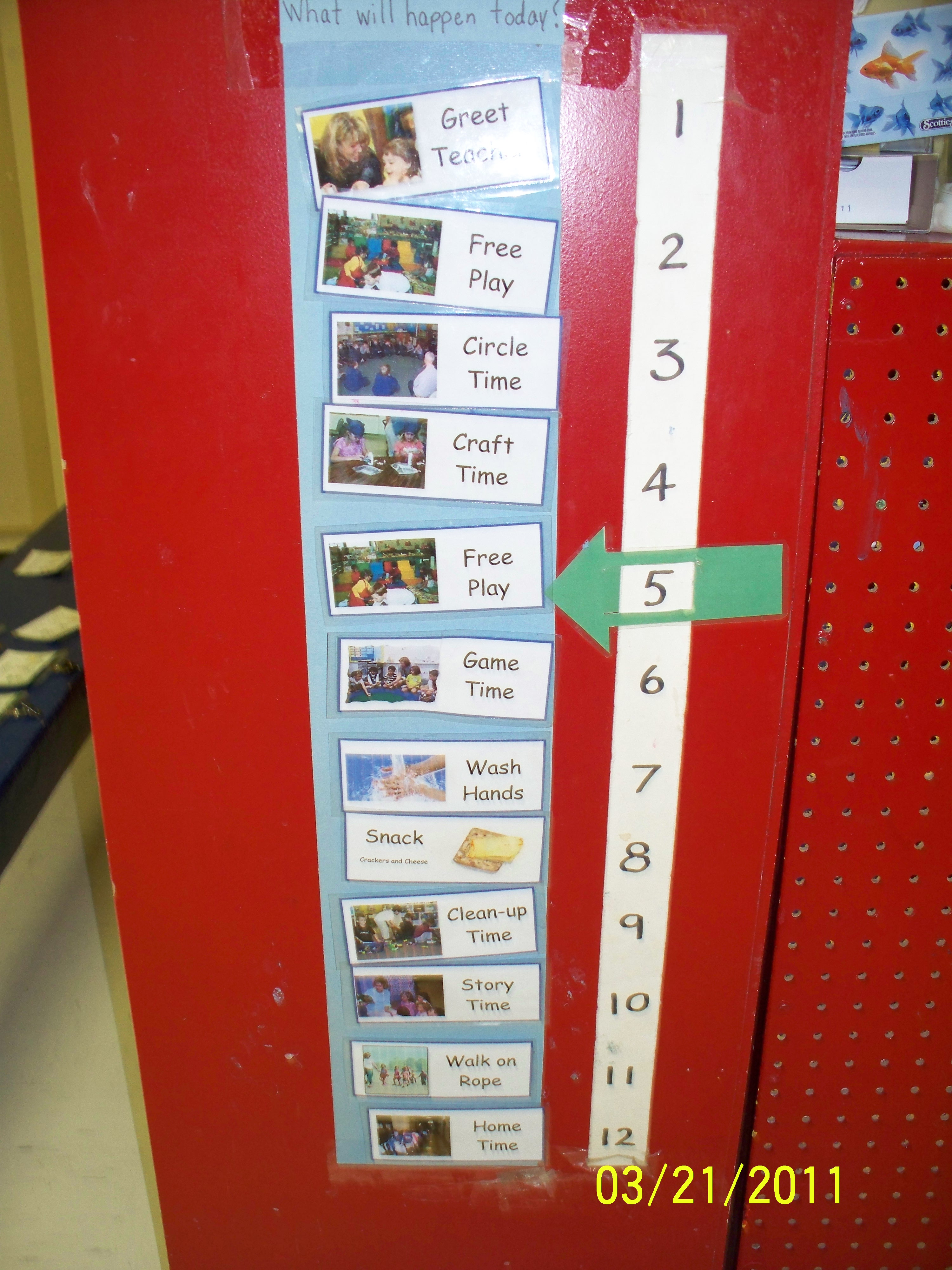 facilities gallery documentation visual schedule daily