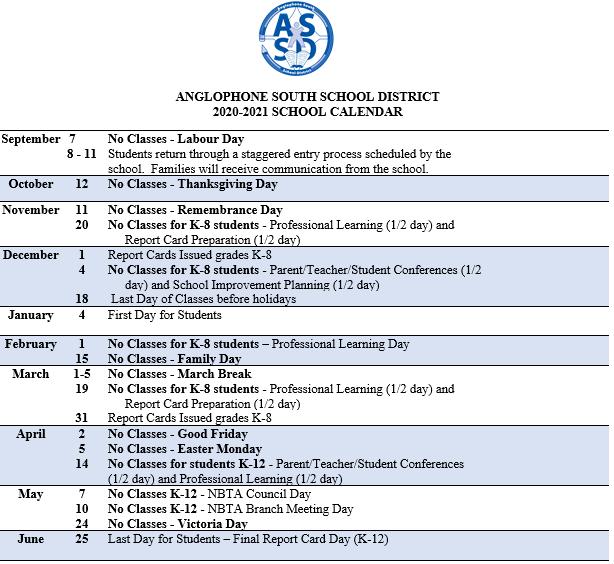 Asd 2021 Calendar 2020 2021 ASD S School Calendar