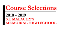 Course Selections 2018 - 2019